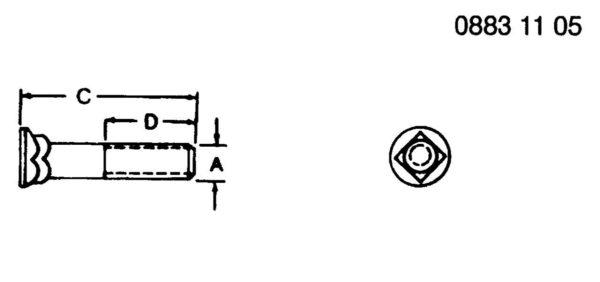 PLOW BOLT 5/8″ X 3″ – 10H1082 HomeSuperCropSuperCrop PartsJohn Deere