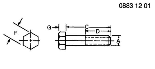 5/8″ X 10-1/2″ HEX BOLT – 08H4219 HomeSuperCropSuperCrop PartsJohn Deere