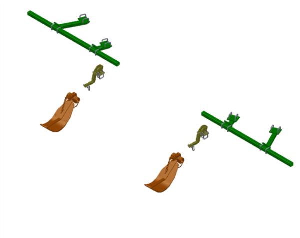 LANKOTA STALK STOMPER® MOUNTING KIT FOR 12 ROW JOHN DEERE® 40/90 SERIES CORN HEADS – 992-LANSS1240-90R2