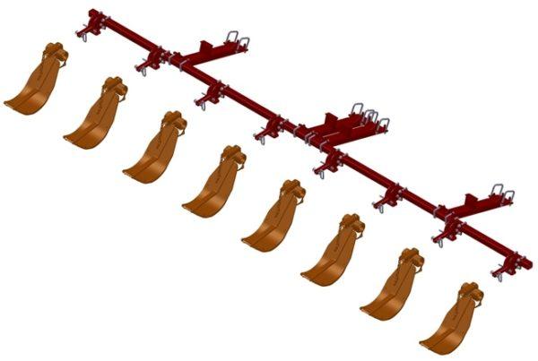 LANKOTA STALK STOMPER® MOUNTING KIT FOR CASEIH® 2608/4208/4408 SERIES 30″ CORN HEADS – 992-LANSS4408R8
