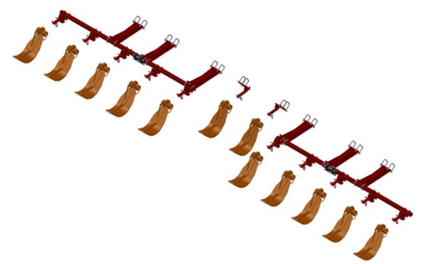 LANKOTA STALK STOMPER® MOUNTING KIT FOR CASEIH® 2612/4212/4412 SERIES 30″ CORN HEADS – 992-LANSS4412R12