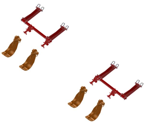 LANKOTA STALK STOMPER® MOUNTING KIT FOR CASEIH® 2612/4212/4412 SERIES 30″ CORN HEADS – 992-LANSS4412R4