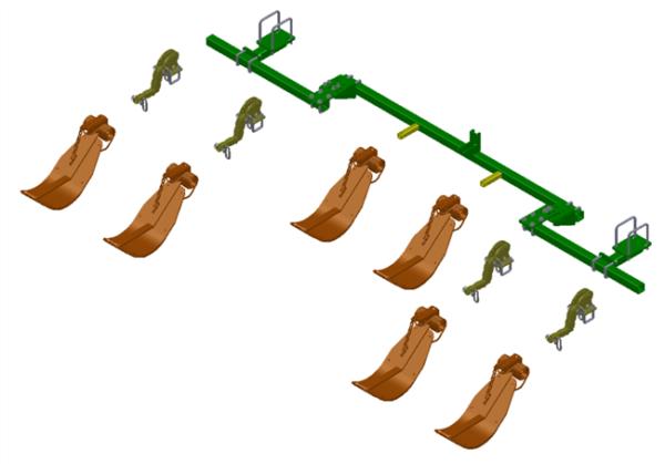 LANKOTA STALK STOMPER® MOUNTING KIT FOR JOHN DEERE® 606C SERIES 30″ CORN HEADS – 992-LANSS606R6 HomeOther PartsStalk StompersJohn DeereCorn Head