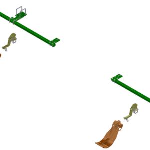 LANKOTA STALK STOMPER® MOUNTING KIT FOR JOHN DEERE® 612C SERIES 30″ CORN HEADS – 992-LANSS612R2 HomeOther PartsStalk StompersJohn DeereCorn Head