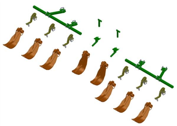 LANKOTA STALK STOMPER® MOUNTING KIT FOR JOHN DEERE® 608C SERIES 36″ WIDE ROW CORN HEADS – 992-LANSS608R8W