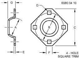 4 BOLT BEARING FLANGETTES (80 MM) – E62484
